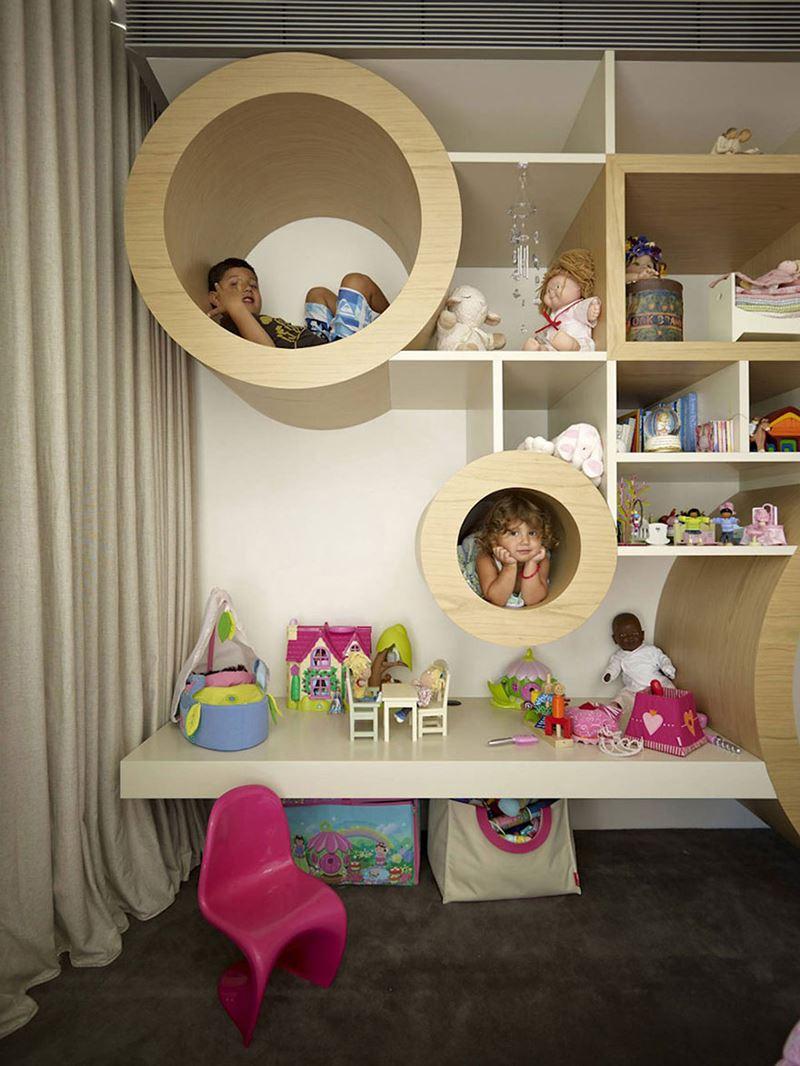 Saklanma tüpleri çocuk odası dekorasyonu