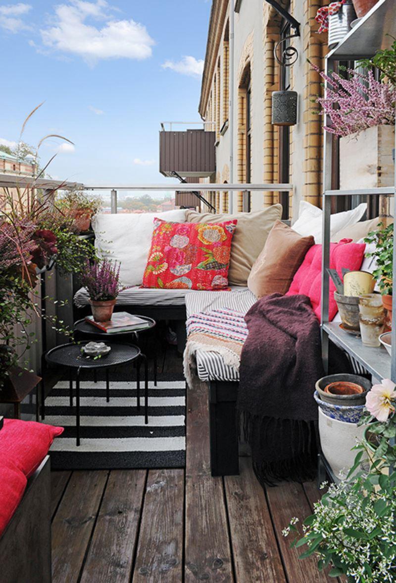 Salaş balkon dekorasyonu