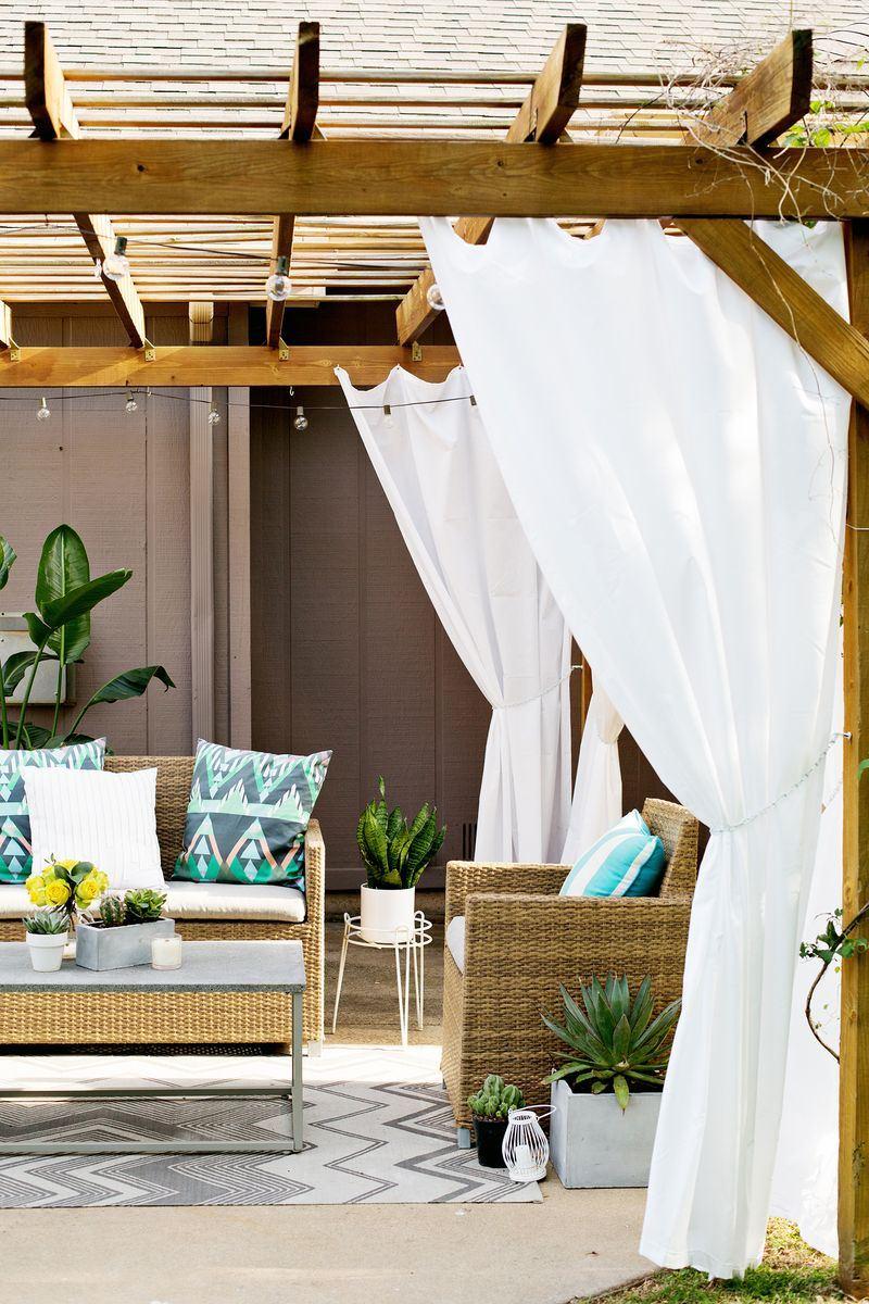Tül veranda dekorasyonu