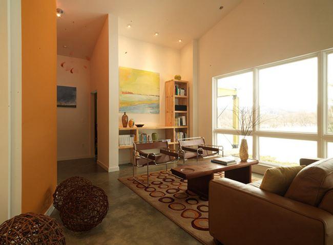 Uzun oturma odası dekorasyonu Küçük Salon