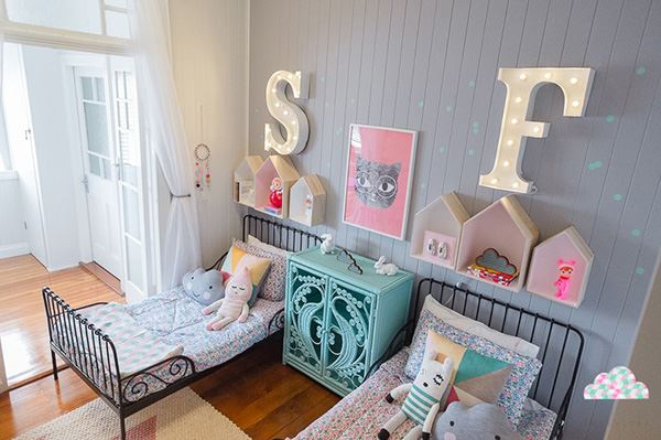 modern nursery for two brothers